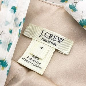 J. Crew Dresses - J.CREW Tiered Floral Trellis Silk Midi Dress